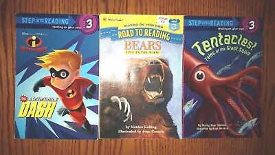 Level 3 Children's Book Lot of 3 Books Incredibles Bears