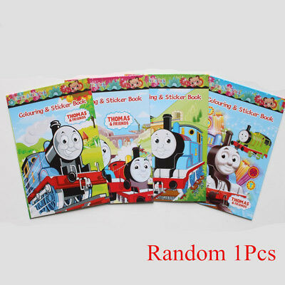Random 1PC Thomas and Friends Craft Coloring Book Kid Toy Gift (No Coloring Pen)