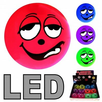 6x LED Ball Funny Angry Faces Leuchtball Blinkball Mitgebsel Kindergeburtstag