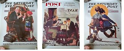 set of 3 Norman Rockwell  posters.  They each measure about SIZE IS 11 X 15IN.