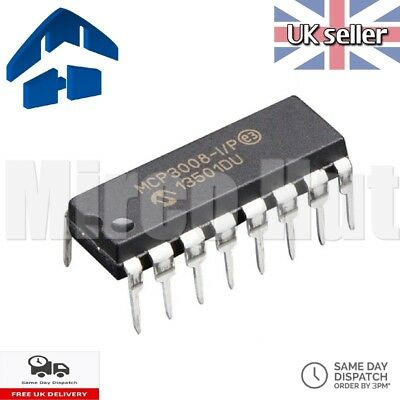 MCP3008 8-Channel 10-Bit ADC With SPI Interface for Arduino Raspberry Pi