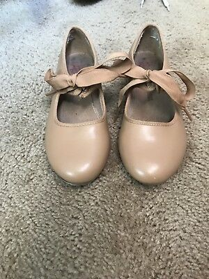 Girls Beige Tap Shoes Size 2M GUC