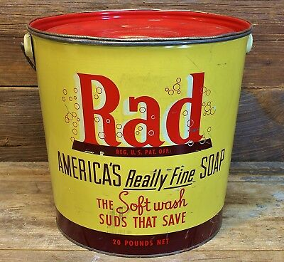 Vintage 1950's RAD Laundry Detergent Can Skate Board Lingo DUDE! AWESOME!!!