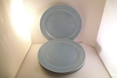 Vintage TS & T Taylor Smith LuRay Pastels Set of 4 Dinner Plates Blue
