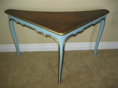 Luxury French Provincial CORNER TABLE ~ Entry Table Turquoise HERMAN SCHLORMAN