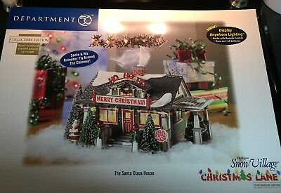 Department 56 Santa Clause House limited edition with moving sleigh