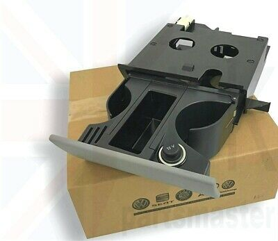 New Vw T5 Transporter Genuine  Rhd Ashtray Cup Coin Holder Grey 7H2858601 3U6
