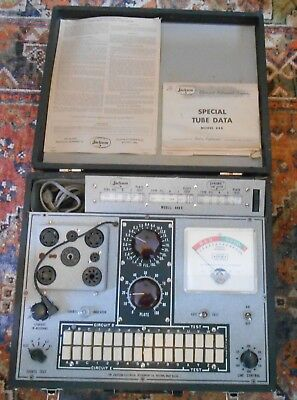 JACKSON 648  TUBE TESTER WORKS FINE WITH BOOKLETS - Nice!