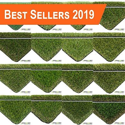 Artificial Grass 16 Ranges Sold per 50cm Length x 2m or 4m Widths, Fake Lawn