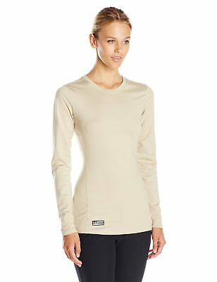 Under Armour Infrared Tactical Fitted Crew Womens Beige Sz M 1244397-290 Nwt $55