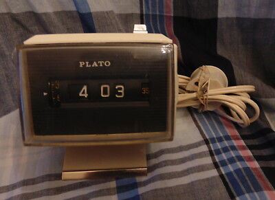 PLATO Vintage electronic clock / alarm clock – 1970's JAPAN - GOOD WORKING
