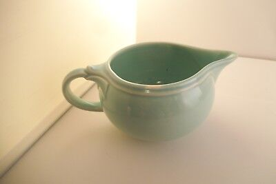 Vintage TS & T Taylor Smith LuRay Pastels Creamer Pitcher Green