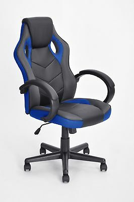 Executive Racing Style Office Chair PU Leather Swivel Computer Desk Seat