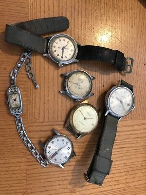 Lot of Mens Old Watches And One Women's Watch Vintage Parts/Repair Lot