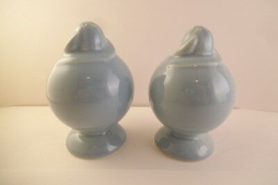 Vintage TS & T Taylor Smith LuRay Pastels Pair of Salt & Pepper Shakers Blue