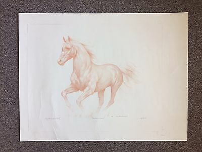 Roy Mendenhall Lithograph Of a Horse Bay Area San Francisco Art Signed Animals