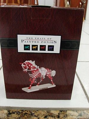 NIB  The trail of Painted Ponies. Jingle Bling Figure NEW Christmas Themed Horse