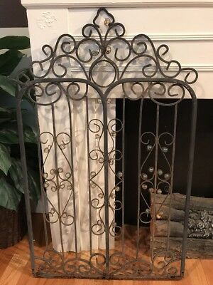 Antique Cast Iron Victorian Gate Ornate Garden Fence