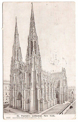 AK US USA Post Card St. Patrick`s Cathedral NEW YORK  gel. 1907