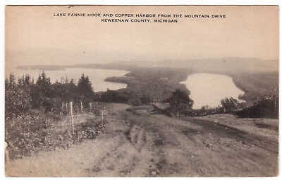 AK US USA Post Card Lake Fannie Hooe a. Copper Harbor Keweenaw County gel. 1936