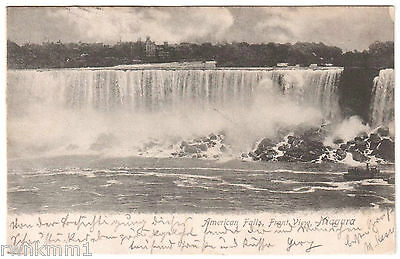 AK US USA Post Card American Falls Front View Niagara gel. 1905