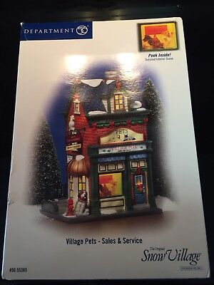 Department 56- Retired- 55365 Village Pets- Sales And Service