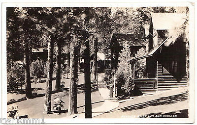 AK US USA Post Card Feather River Inn and Charlets ungelaufen