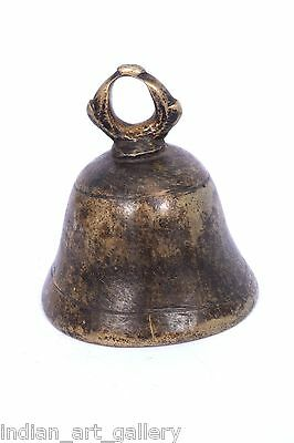 Rare Vintage Handicraft High Age Brass Ritual Temple Bell, Good Sound. i9-38