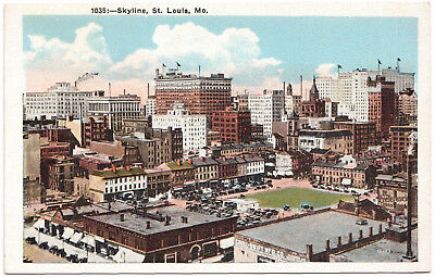 AK US USA Post Card Skyline ST. LOUIS ungelaufen v. 1945