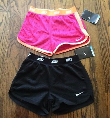 NWT NEW Nike Lot Set Shorts Black Pink DriFit Girls' Size 6