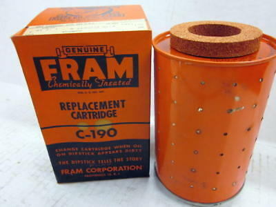 Fram Oil Filter C-190, Fits Buda & Allis-Chalmers Engines