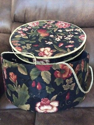 Large material covered hat or storage box