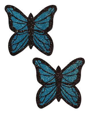 Pastease Blue Monarch Butterfly Nipple Pasties Cover  ~ 1 pair
