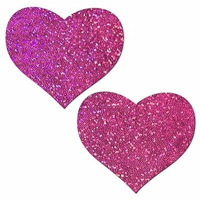 Pastease Dark Pink Heart Nipple Pasties Cover  ~ 1 pair