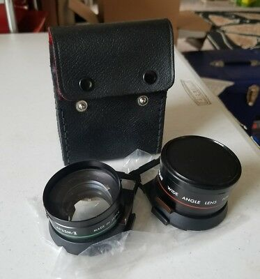 DeJUR telephoto & Wide Angle Lens set lot For AF35M-II w/ case