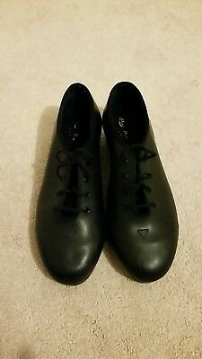 Bloch Techno Tap Size 5 1/2M Black Smooth Tie Up Oxford Tap Shoes 380 S416