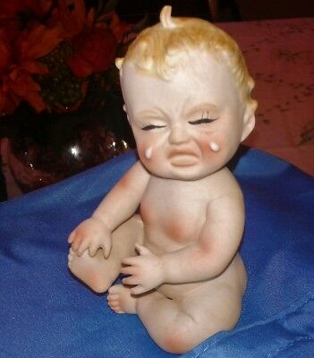 Vintage Piano Baby Figurine By Norcrest