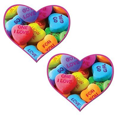 Pastease Valentine's Day Candy Heart Pasties Cover  ~ 1 pair