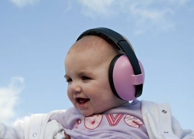 Banz Baby Ear Defenders Silver Hearing Protection Earmuffs Ages 2-10 NEW