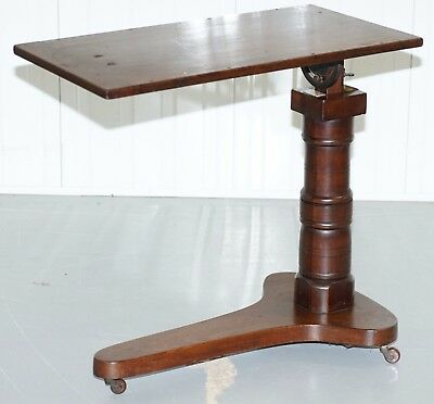 Victorian Mahogany 1880 Leveson & Son's Height Adjustable Reading Tray Table