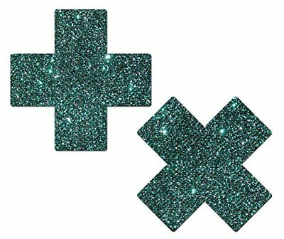 Pastease Teal Green Turquoise Plus X Pasties Cover  ~ 1 pair