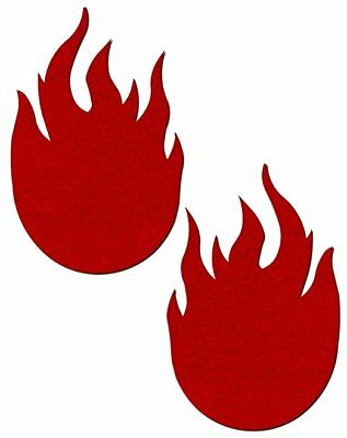 Pastease Red Flame Fire Fussy Pasties Cover  ~ 1 pair