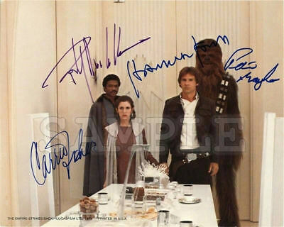 Star Wars cast signed 8x10 Autograph Photo RP - Cloud City - Free Shipping!!