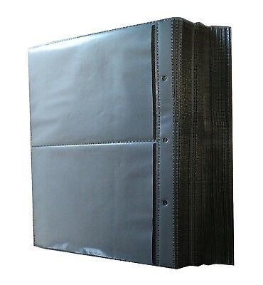 50 Pk Refill Binder Sleeves for DVD Blu-Ray Movie Storage case replacement Black