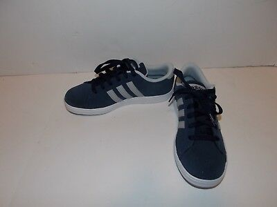 NEW Adidas Neo Baseline K Navy Blue Suede Shoes AW4826 Youth Kids Boys 2.5  4.5