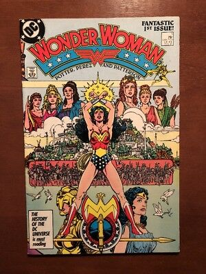 Wonder Woman #1 (1987) 9.2 NM 1st Issue DC Key Issue Comic Wraparound Cover