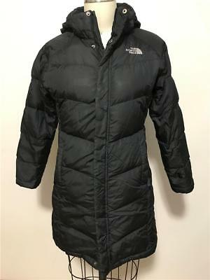 The North Face Goose Down Long Parka Puffer Coat Black Size M Youth Girls