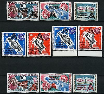 Space Raumfahrt 1979 Congo Kongo Brazzaville 702-705 Black & Red Ovpt MNH/1132