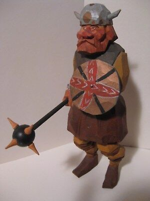 Vintage Carved Norwegian Viking Signed By GUNNARSSON