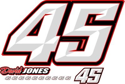 Race Car Number Package Imca Wissota Nascar Dirt Late Model Modified Street Stoc